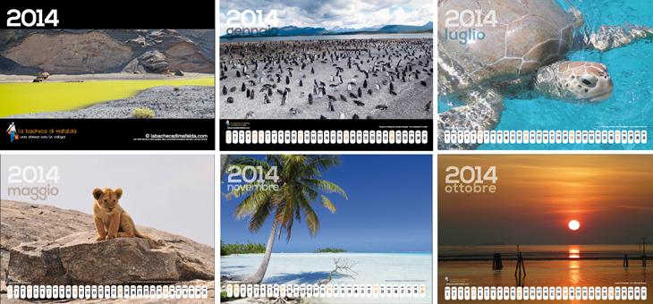 calendario, viaggi, 2014