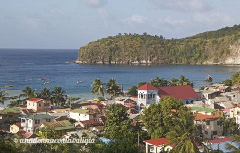 saint lucia caraibi il villaggio di Canaries
