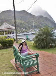 Soufriere pitons saint lucia caraibi