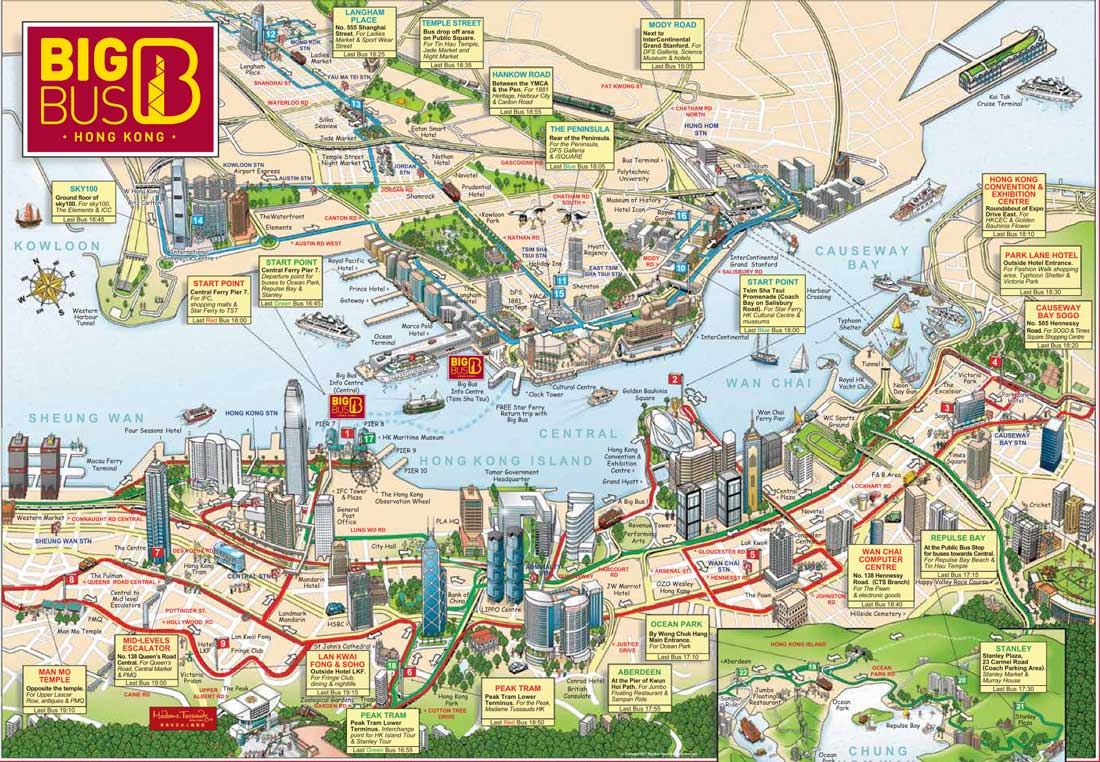 mappa bus hong kong