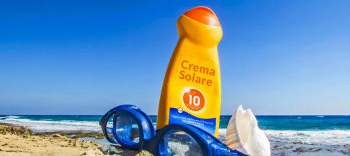 crema solare spiaggia