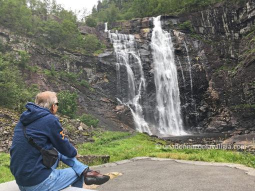 Skjervsfossen cascata Norvegia
